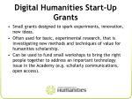 digital humanities start up grants