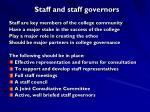 staff and staff governors