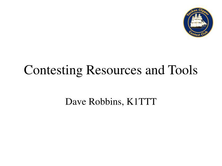 contesting resources and tools n.