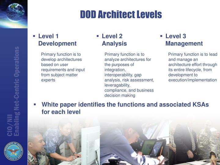 DOD Architect Levels