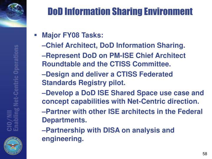 Major FY08 Tasks: