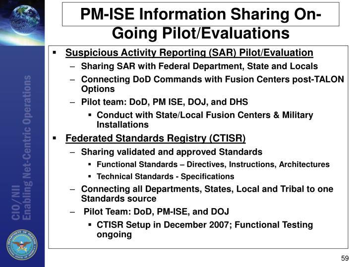 Suspicious Activity Reporting (SAR) Pilot/Evaluation