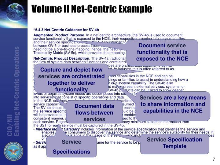 Volume II Net-Centric Example