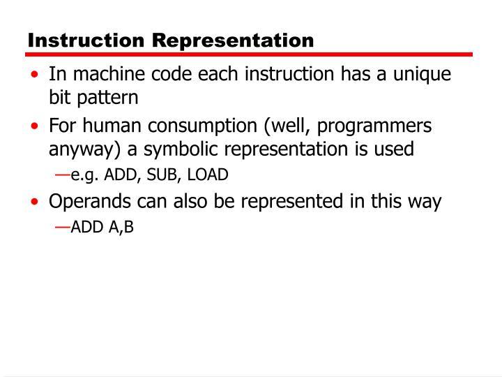 Instruction Representation