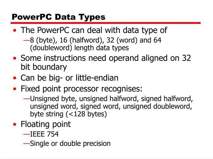 PowerPC Data Types