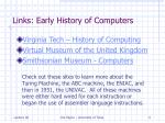 links early history of computers