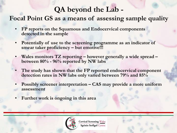 QA beyond the Lab -