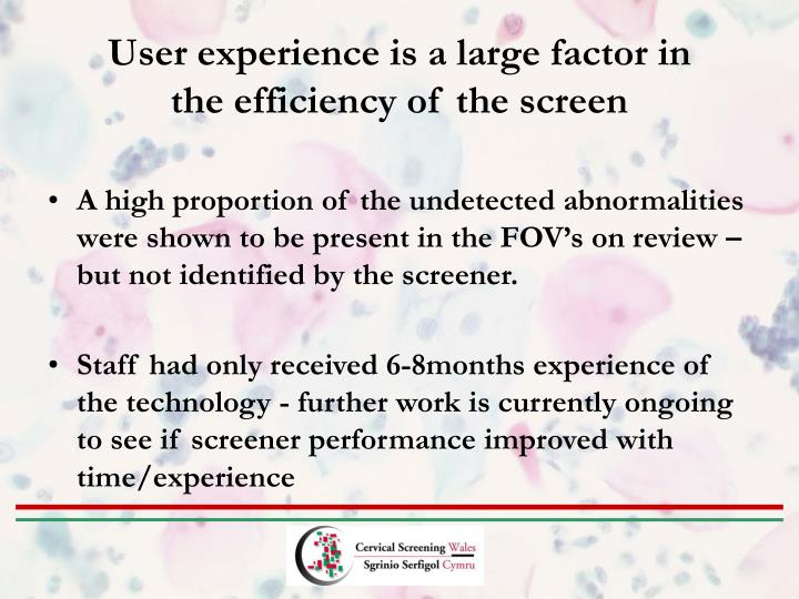 User experience is a large factor in