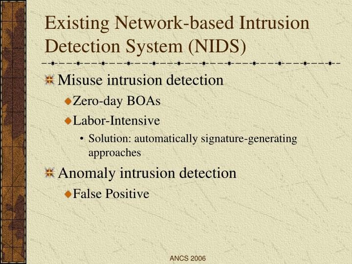 Existing Network-based Intrusion Detection System (NIDS)