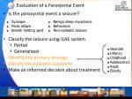 evaluation of a paroxysmal event