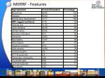 merrf features