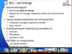 ncl lab findings