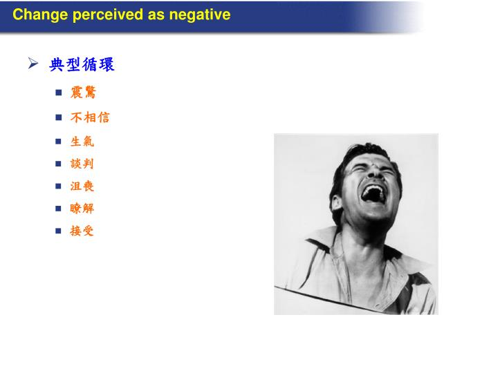 Change perceived as negative