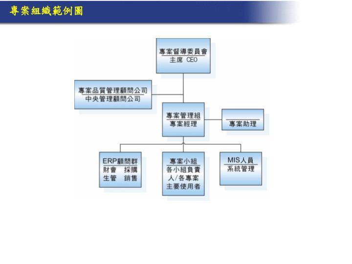 專案組織範例圖