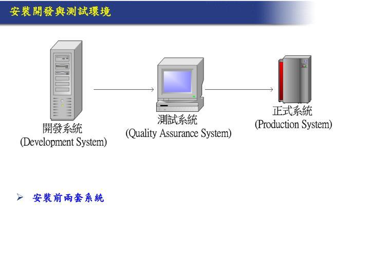安裝開發與測試環境