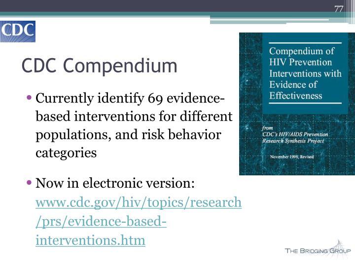CDC Compendium