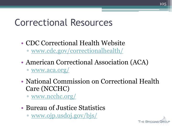 Correctional Resources