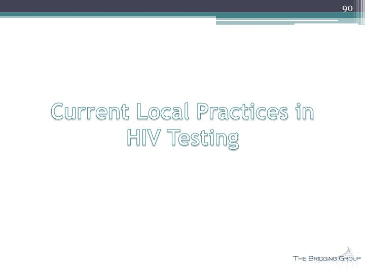 Current Local Practices in