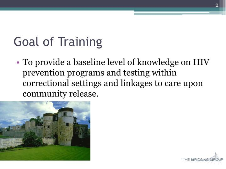 Goal of training