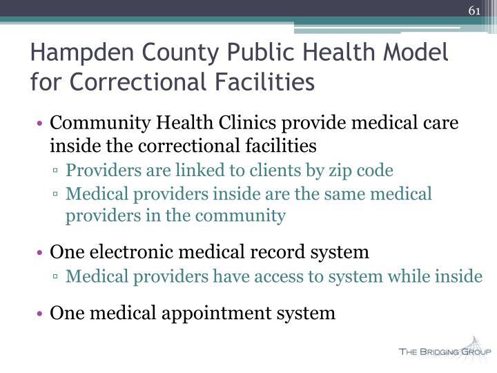 Hampden County Public Health Model for Correctional Facilities