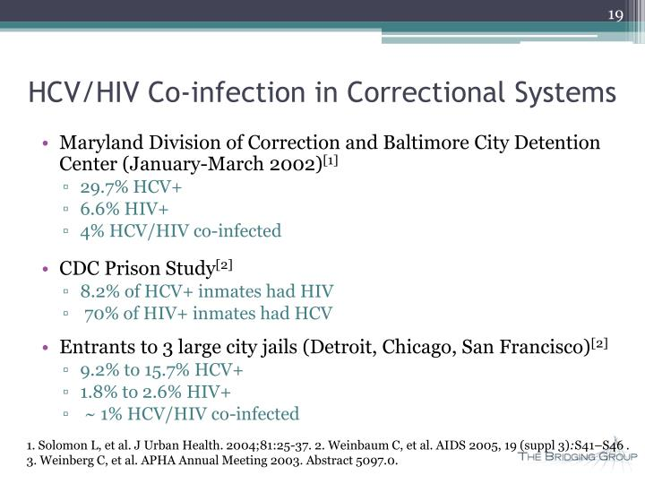 HCV/HIV Co-infection in Correctional Systems