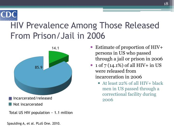 HIV Prevalence Among Those Released From Prison/Jail in 2006