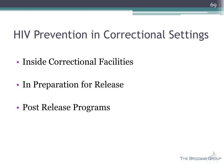 HIV Prevention in Correctional Settings