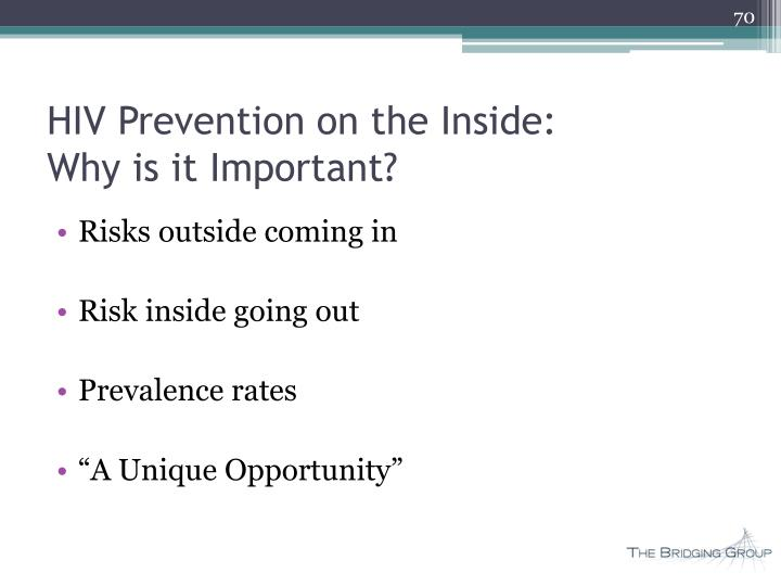 HIV Prevention on the Inside: