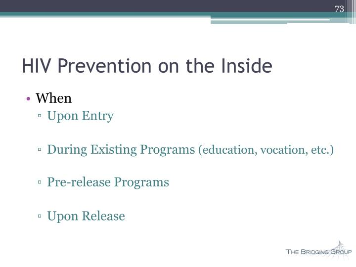 HIV Prevention on the Inside