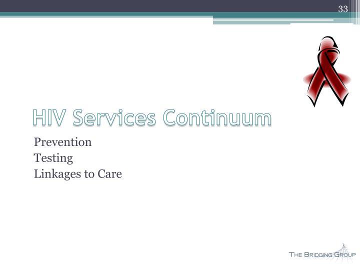 HIV Services Continuum