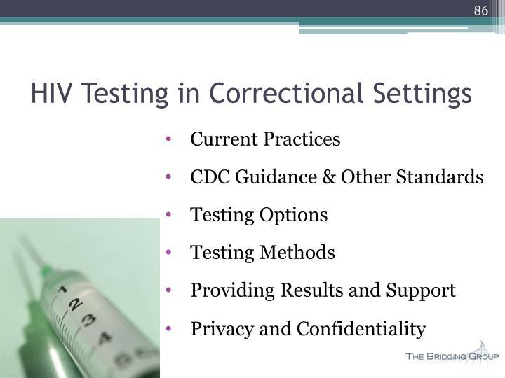 HIV Testing in Correctional Settings