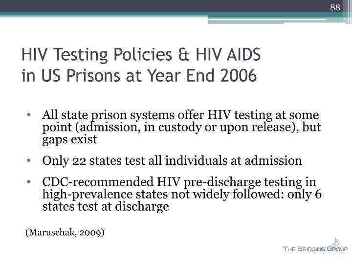 HIV Testing Policies & HIV AIDS
