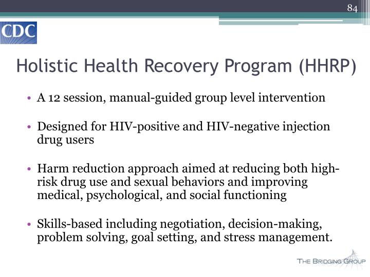 Holistic Health Recovery Program (HHRP)