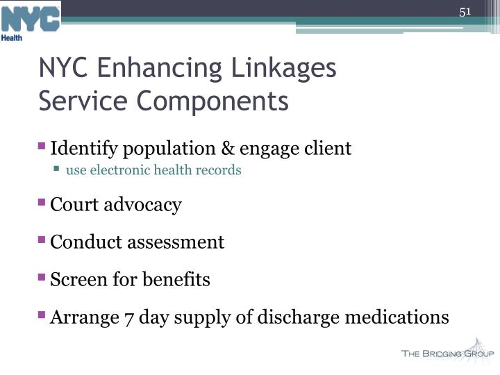 NYC Enhancing Linkages Service Components