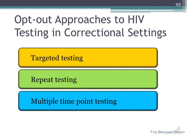 Opt-out Approaches to HIV Testing in Correctional Settings