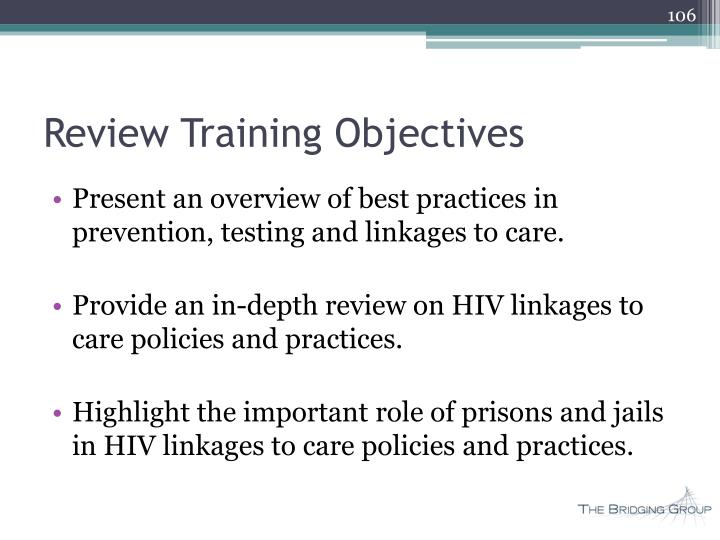 Review Training Objectives