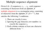 multiple sequence alignment1