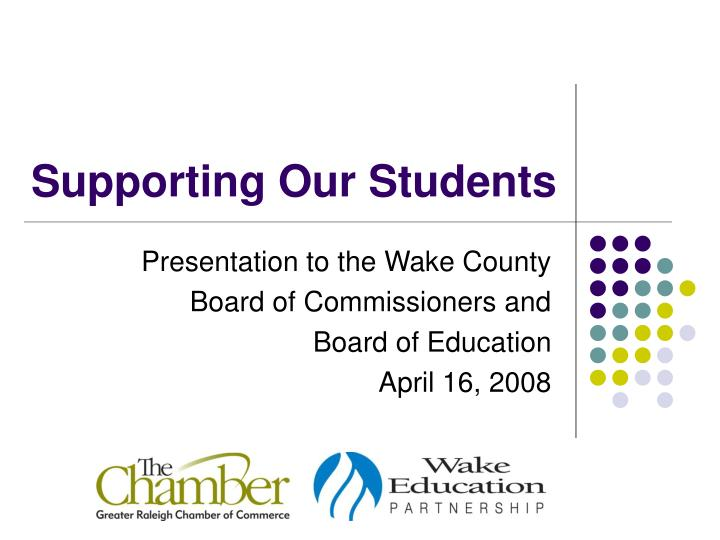 supporting our students n.