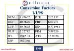 conversion factors 1 1 98