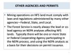 other agencies and permits