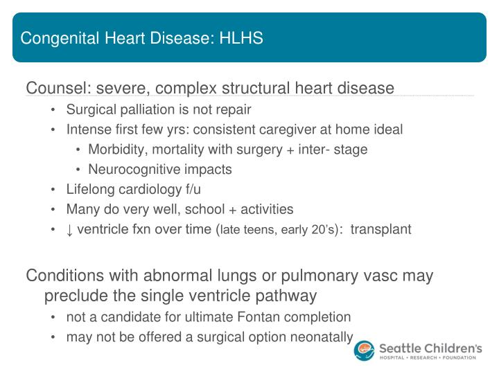 Congenital Heart Disease: HLHS