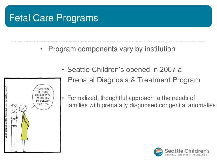 Fetal Care Programs
