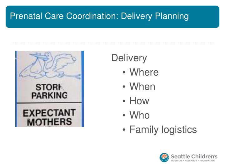 Prenatal Care Coordination: Delivery Planning