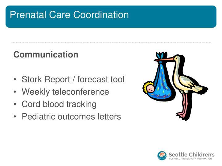 Prenatal Care Coordination