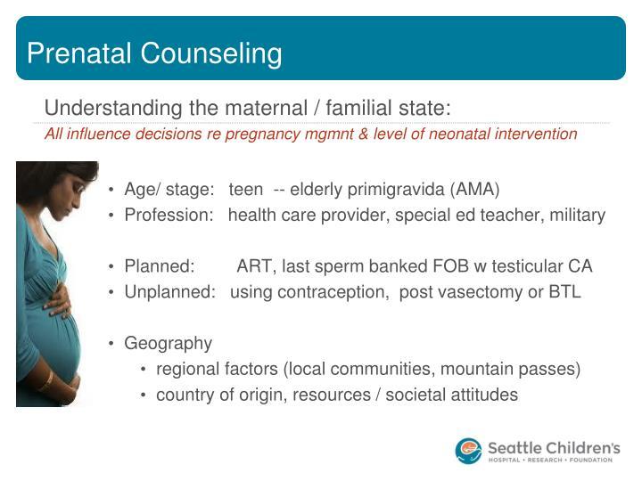 Prenatal Counseling