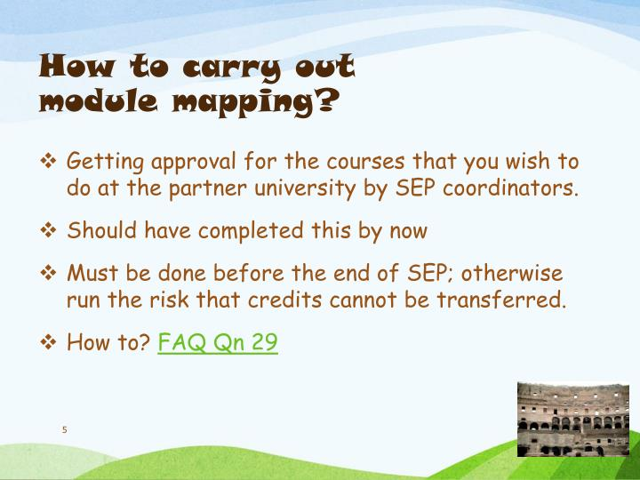 How to carry out module mapping?