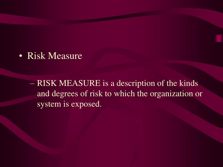 Risk Measure