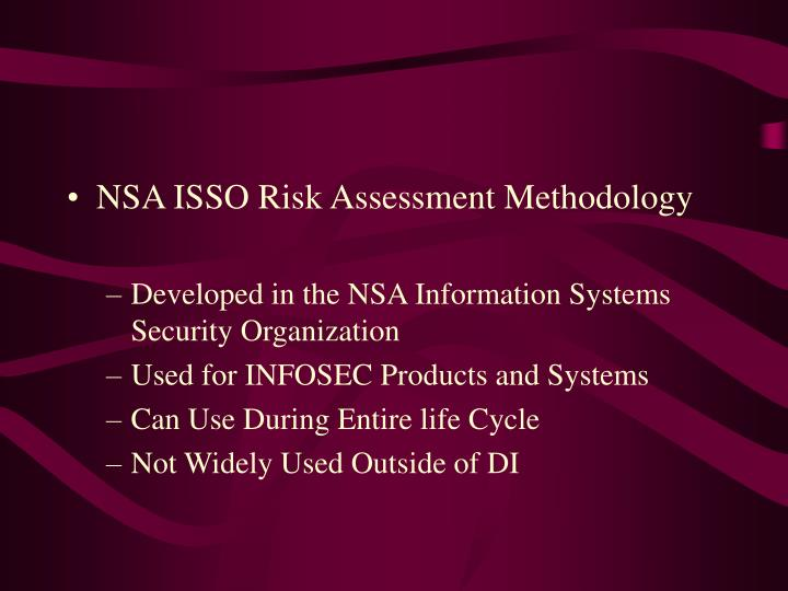 NSA ISSO Risk Assessment Methodology