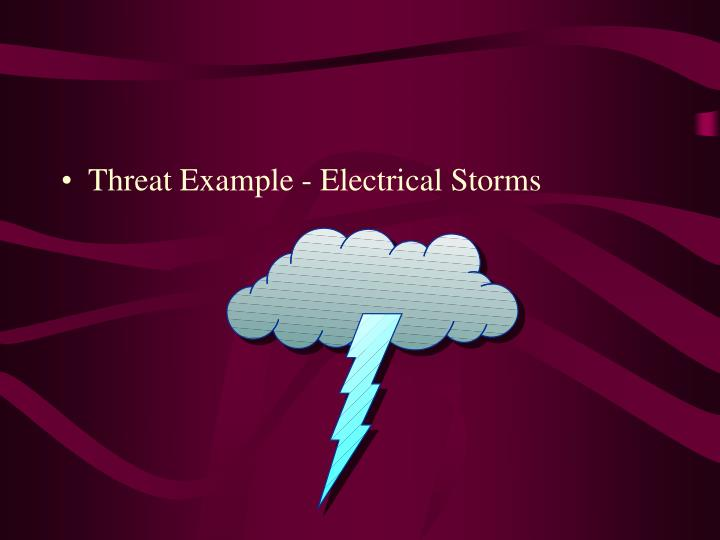 Threat Example - Electrical Storms