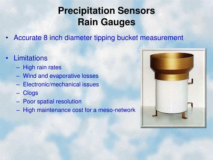 Precipitation sensors rain gauges